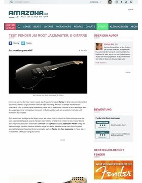 Test: Fender Jim Root Jazzmaster, E-Gitarre