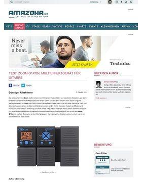 Test: Zoom G1Xon, Multieffektgerät für Gitarre
