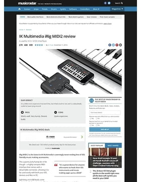 IK Multimedia iRig MIDI2
