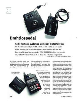 Audio-Technica System 10 Stompbox Digital Wireless, Sendeanlage