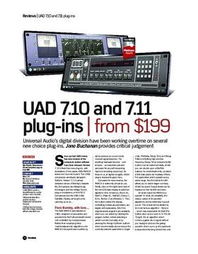 UAD 7.10 and 7.11 plug-ins