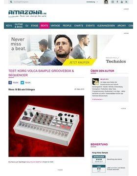 Test: Korg Volca Sample, Groovebox