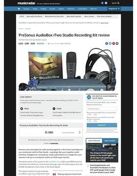 PreSonus AudioBox iTwo Studio Recording Kit