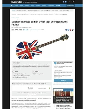 Epiphone Limited Edition Union Jack Sheraton Outfit