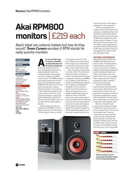 Akai RPM800 monitors