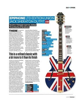 Epiphone Ltd Edition Union Jack Sheraton Outfit