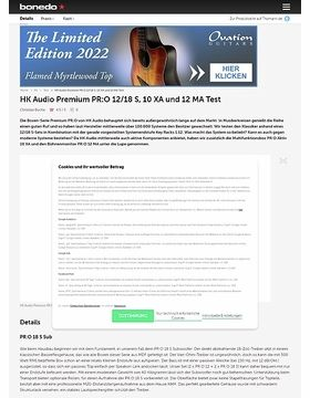 HK Audio Premium PR:O 12/18 S, 10 XA und 12 MA