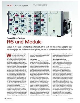 Rupert Neve Designs R6 und Module