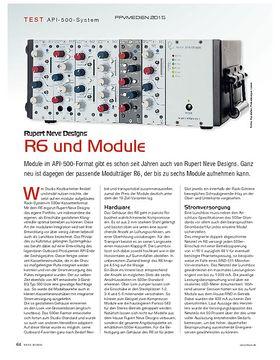 Rupert Neve Designs: R6 und Module