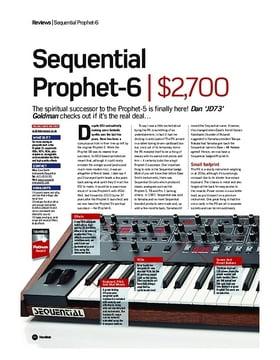 Sequential Prophet 6