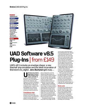 UAD Software v8.5 Plug-Ins