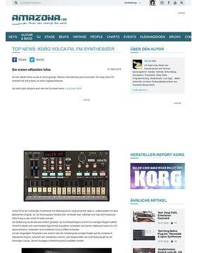 Top News: Korg Volca FM, FM-Synthesizer