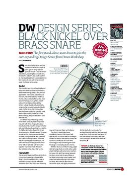 DW Design Series Black Nickel Over Brass Snare