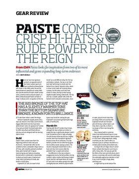 Paiste Combo Crisp Hi Hats & Rude Power Ride The Reign
