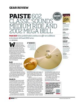 Paiste 602 Classic Sounds Medium Ride And 2002 Mega Bell