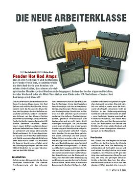Fender Hot Rod Amps, Röhren-Combos