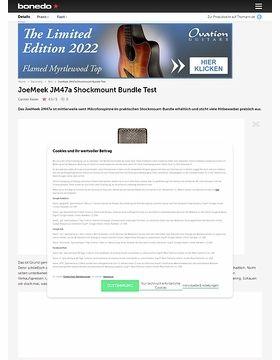 JoeMeek JM47a Shockmount Bundle Test