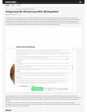 Ortega Lizzy-BS-GB und Lizzy-BSFL-GB