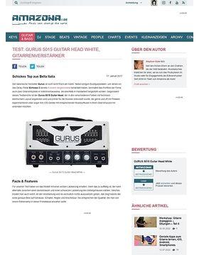 Gurus 5015 Guitar Head White