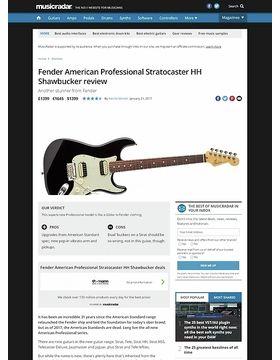 Fender American Professional Stratocaster HH Shawbucker