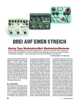 Keeley Tone Workstation, Mod Workstation, Monterey