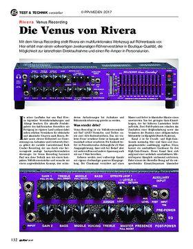 Rivera Venus Recording