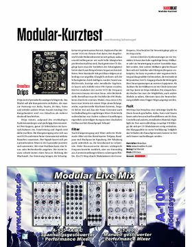 Modular-Kurztest Dreadbox Drips