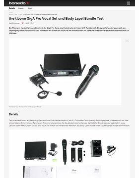 the t.bone GigA Pro Vocal Set und Body Lapel Bundle