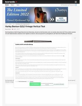 Harley Benton G212 Vintage Vertical