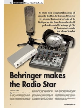 Behringer makes the Radio Star: Podcast Studio FW