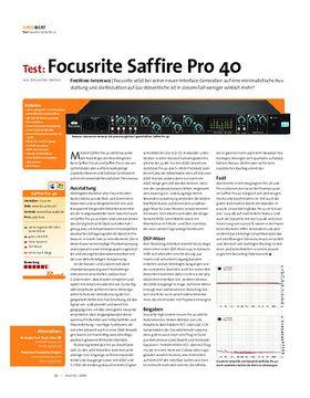 Test: Focusrite Saffire Pro 40