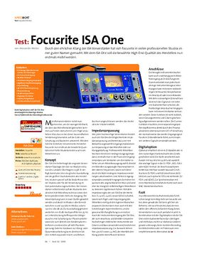 Test: Focusrite ISA One