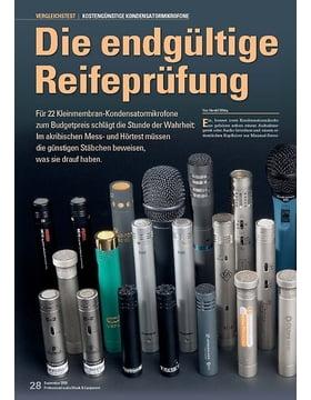 Die endgültige Reifeprüfung: Günstige Kondensatormikrofone