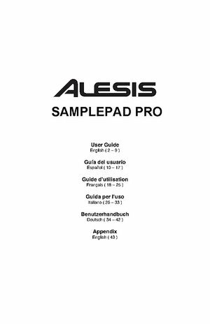 Alesis SamplePad Percussion Multi Pad - Thomann UK