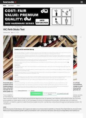 Bonedo.de VIC Firth Stick Test