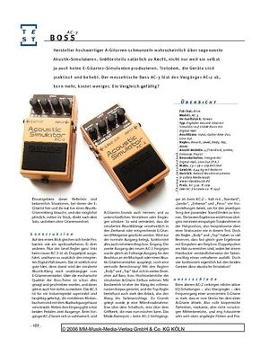 Gitarre & Bass Boss AC-3, Akustik-Simulator