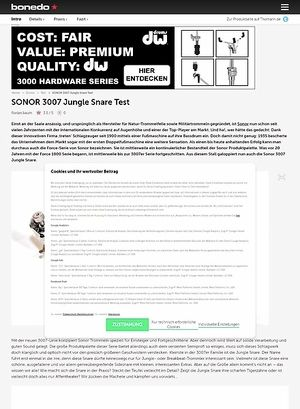 Bonedo.de Sonor Jungle Snare