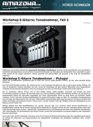 Amazona.de Workshop: Guitar know-how - Tonabnehmer, Teil 2