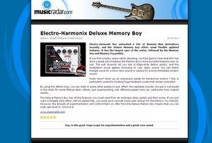 MusicRadar.com Electro-Harmonix Deluxe Memory Boy