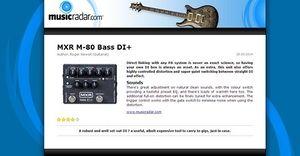 MusicRadar.com MXR M-80 Bass DI+