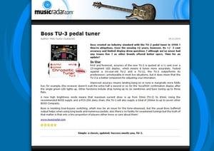 MusicRadar.com Boss TU-3 pedal tuner