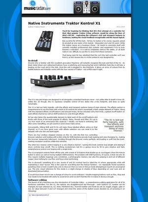 MusicRadar.com Native Instruments Traktor Kontrol X1
