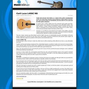 MusicRadar.com Cort Luce L450C NS