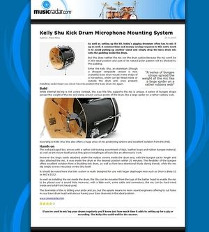 MusicRadar.com Kelly Shu Kick Drum Microphone Mounting System