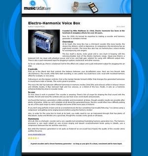 MusicRadar.com Electro-Harmonix Voice Box