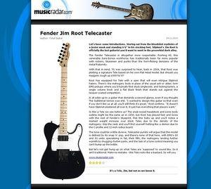 MusicRadar.com Fender Jim Root Telecaster
