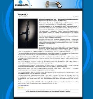 MusicRadar.com Rode M3