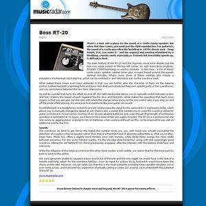 MusicRadar.com Boss RT-20