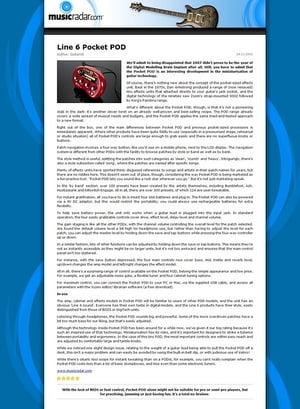 MusicRadar.com Line 6 Pocket POD
