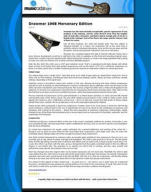 MusicRadar.com Drawmer 1968 Mercenary Edition